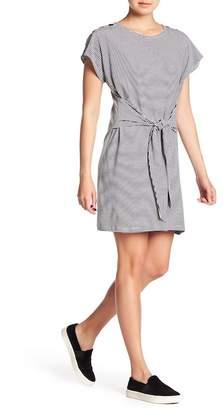 Bobeau Button Shoulder Tie Front Dress