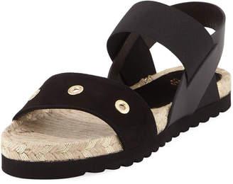 Andre Assous Suede Platform Sandal, Black $79 thestylecure.com