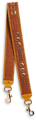 Steve Madden Whiptitched and Grommeted Leather Handbag Strap $25 thestylecure.com