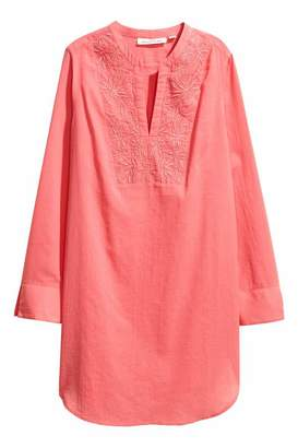 H&M Embroidered Cotton Tunic