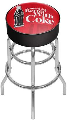 Trademark Gameroom Coke Chrome Bar Stool With Swivel