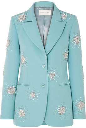 Stine Goya Iris Crystal-embellished Cady Blazer - Light blue