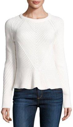 1.STATE Ribbed Peplum Sweater, Vanilla $65 thestylecure.com