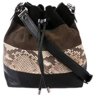 Proenza Schouler Snakeskin-Trimmed Crosby Bucket Bag Black Snakeskin-Trimmed Crosby Bucket Bag