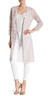 Catherine Malandrino 3/4 Sleeve Multi Color Lace Jacket