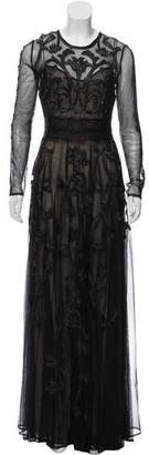 Marchesa Voyage Embroidered Maxi Dress w/ Tags