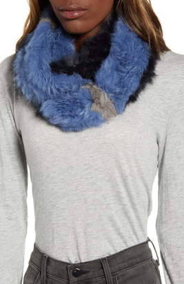 Love Token Genuine Rabbit Fur Infinity Scarf