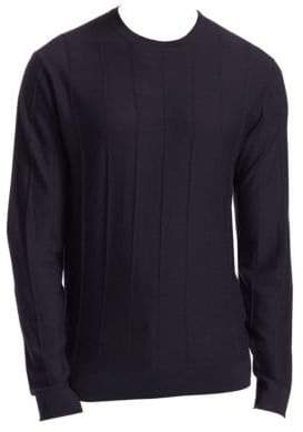 Emporio Armani Crewneck Vertical Stitch Sweater