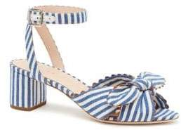 Loeffler Randall Jill Stripe Knotted Denim Slingback Sandals