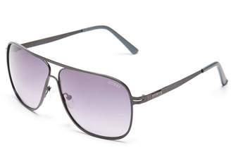 GUESS Factory Men's Curved Bridge Navigator Sunglasses