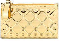 Valentino Rockstud Spike Coin Purse/Card Case