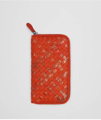 Bottega Veneta Terracotta Intrecciato Nappa Zip-Around Wallet