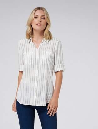 Forever New Kensie stripe shirt - Sage Stripe - 4