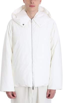 Jil Sander White Nylon Down Jacket