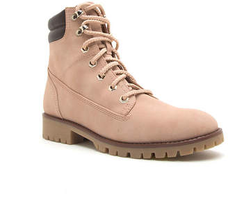 Qupid Womens Severe 16 Combat Stacked Heel Lace-up Boots