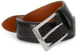 Saks Fifth Avenue Lizard Leather Belt