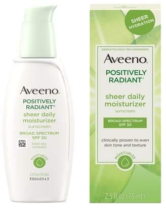 Aveeno Positively Radiant Sheer Daily Moisturizing Lotion - SPF 30
