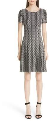 St. John Fit & Flare Knit Dress