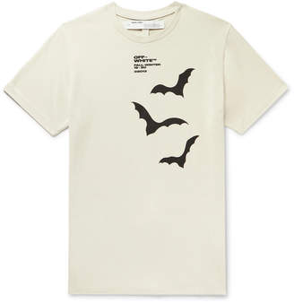 Off-White Off White Printed Cotton-Jersey T-Shirt - Men - Neutrals
