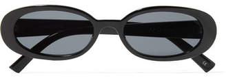 Le Specs Outta Love Oval-frame Acetate Sunglasses - Black