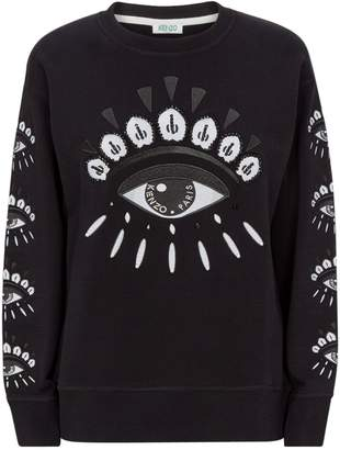 Kenzo Cotton Embroidered Eye Sweater