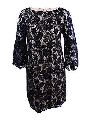 Jessica Howard Women's Lace Shift Dress with Bell Sleeves