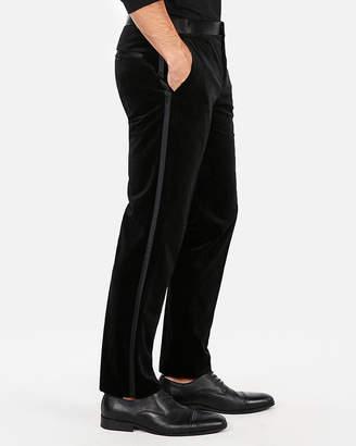Express Slim Black Velvet Tuxedo Pant
