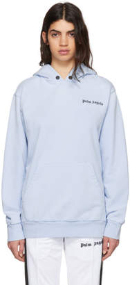 Palm Angels Blue Palms Capture Hoodie