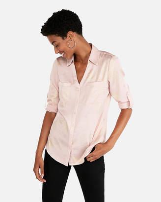 Express Original Fit Shimmer Portofino Shirt