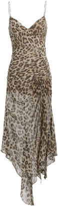 Nicholas Leopard Drawstring Dress