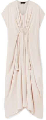Hatch Neema Gathered Cotton-blend Voile Dress - Beige