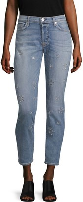 Hudson Jeans Riley Star Straight-Leg Jeans