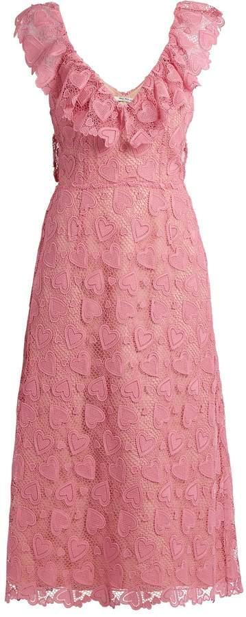 Miu MiuMIU MIU Heart-macramé lace midi dress