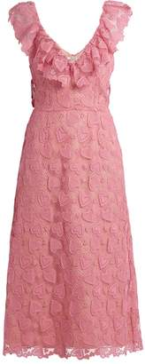 Miu Miu Heart-macramé lace midi dress