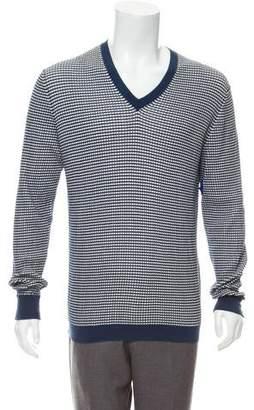 Marc Jacobs Pattern V-Neck Sweater