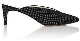 Barneys New York Women's Polka Dot Suede Mules-Black