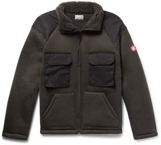 Cav Empt Boa Shell-Panelled Fleece Zip-Up Cardigan