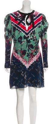 Saloni Alena Silk Floral Print Dress w/ Tags