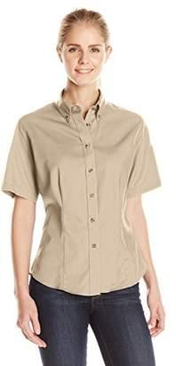 Lee Women's Meridian Performance Twill Short-Sleeve Shirt