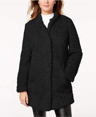 Kenneth Cole Faux-Fur Teddy Coat