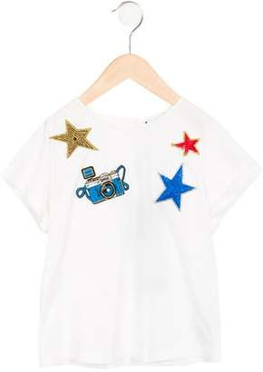 Dolce & Gabbana Girls' Camera Appliqué T-Shirt w/ Tags