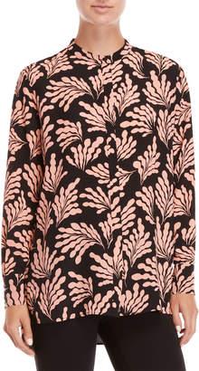 Diane von Furstenberg Silk Printed Oversized Shirt