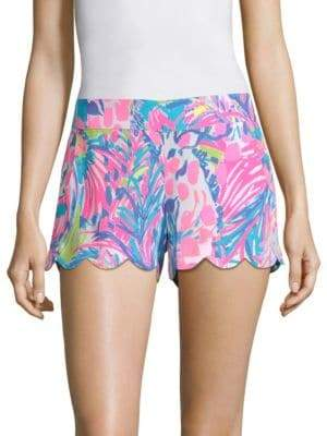 Lilly Pulitzer Dahlia Soft Buttercup Printed Shorts