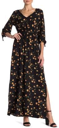 SUPERFOXX Floral Printed Crepe Maxi Dress