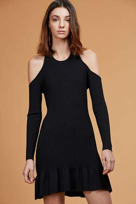 C/Meo COLLECTIVE NO RETURN LONG SLEEVE KNIT DRESS black