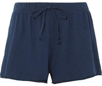 Orelia Skin Pima Cotton-jersey Pajama Shorts - Navy