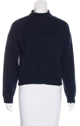 Frame Rib Knit Turtleneck Sweater