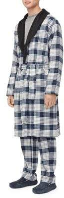 UGG Heritage Comfort Kalib Fleece-Lined Plaid Robe