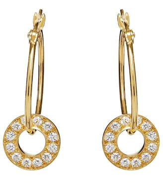 Louise Varberg Jewellery - White Sapphire Gold Hula Hoops.