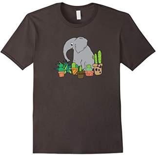 The elephant's Cacti Garden - cactus t-shirt